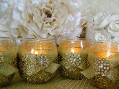 Centerpieces 50th Birthday Party by 12 Mason Jar Wedding 50th Anniversary Gold Decorations Shabby