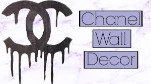 diy easy dripping chanel logo inspired wall decor youtube