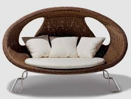 astounding oval egg pod chair made of rattan wood with white
