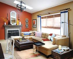 paint colors home jenna burger benjamin moore mystic gold and glidden crisp autumn leaves fireplace accent wall