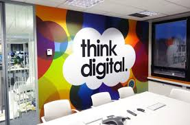 Wall Ideas For Office Outstanding Home Office Feature Wall Ideas Creative Wall Painting