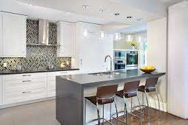 kitchen designs toronto medium grey quartz countertop and breakfast bar contemporary