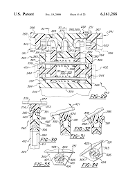 patent us6161288 four blade bi directional razor structure with