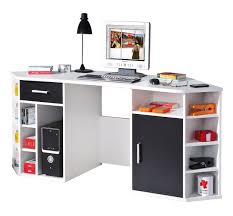 Eck Computertisch Links 13300200 Schreibtisch Eckschreibtisch Weiß Schwarz