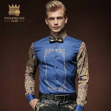 dress pattern brands fanzhuan featured brands clothing men shirt vintage pattern printed