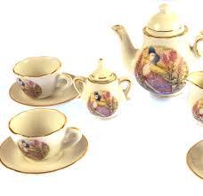 beatrix potter tea set jemima puddleduck porcelain tea set and basket pink