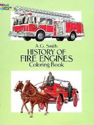 history fire engines coloring book dover history coloring book