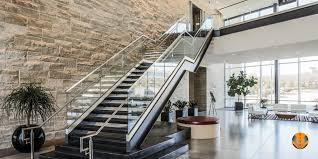 Glass Stair Banister Structural Glass Railings Stainless Steel Aluminum Railings
