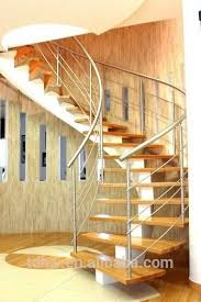 single stringer round stairs with wooden tread buy single