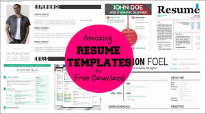 Creative Resume Free Templates Free Cool Resume Templates Word Free Samples Examples U0026 Format