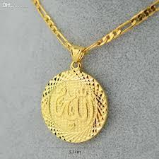 long necklace chain wholesale images Wholesale gold silver men allah pendant necklace chain 18 24 gold jpg