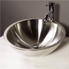 choose stainless steel bathroom sinks u2014 the homy design