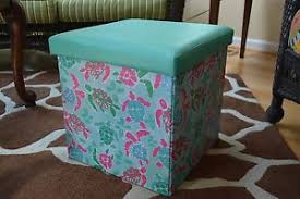 simply southern turtle pattern folding storage ottoman ebay