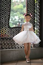 new arrival children summer white dress wedding dress kids girls