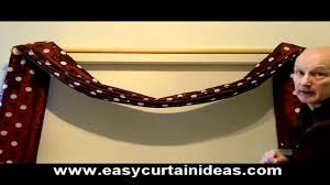How To Hang Sheers And Curtains How To Make And Hang A Scarf Swag Youtube