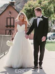 spaghetti wedding dress ericdress simple a line backless spaghetti straps sweetheart