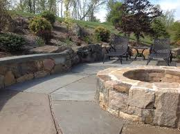 Stone Firepit by Fire Pits And Fireplaces Cording Landscape Design