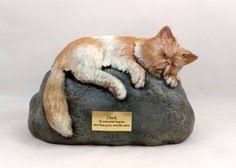 cat cremation ceramic engraved painted siamese cat cremation urn made pet
