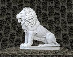 marble lion second marketplace white marble lion decorative panel