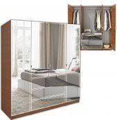 Mirror Armoire Wardrobe Mirrored Wardrobe Contempo Space