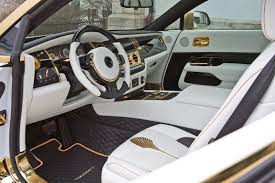 rolls royce interior 2017 mansory u0027s rolls royce wraith palm edition 999 is garnished in gold