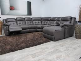 Grey Sectional Sofa Furniture Blue Leather Sectional Sofa And White Cushions Added