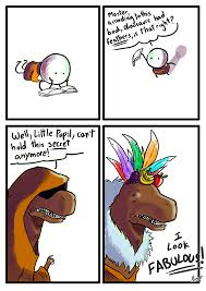 Dino Memes - dinosaur monk dino feathers by almoyan on deviantart