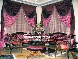Burgundy Curtains For Living Room Stylish Pink And Black Curtains For Luxury Living Room Curtain