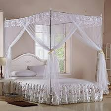 Princess Canopy Bed White Four Corner Square Princess Bed Canopy