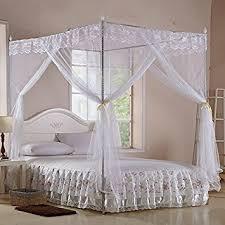 White Princess Bed Frame White Four Corner Square Princess Bed Canopy