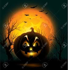 free halloween orange background pumpkin scary jack o lantern face halloween background royalty free