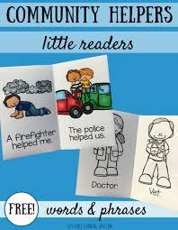 community helpers little readers liz u0027s early learning spot