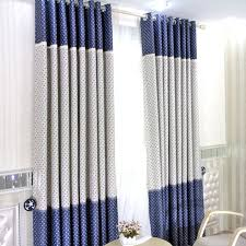 White Darkening Curtains Clearance Blue White Poly Cotton Blackout Curtains