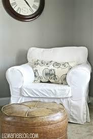 slipcovered chair white slipcovered chair liz