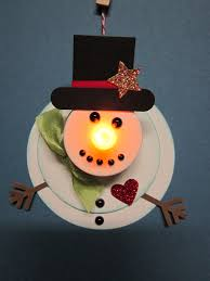 krafting with flameless candle snowman ornament