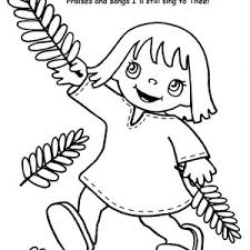 picture of palm sunday coloring page color luna
