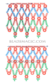 free pattern for beaded necklace russo 2 u need 3 colors