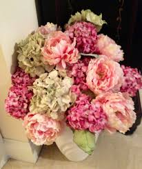 Peony Floral Arrangement Peony And Hydrangea Arrangement Floral Creations Pinterest
