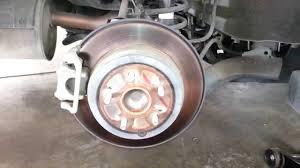 honda crv brake 2011 honda cr v rear brake caliper bracket rotor checking