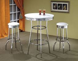 Retro Bar Table Retro Style White And Chrome Bar Table Bar Retro Pub Table Sosfund
