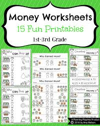 money worksheets for 2nd grade planning playtime