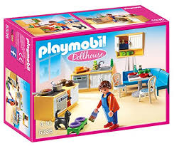 playmobile cuisine amazon com playmobil country kitchen toys
