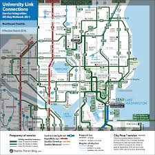 Seattle Rail Map by Alternative 1 Northeast Seattle