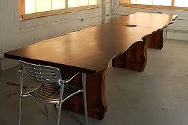 live edge conference table with slab legs lorimer workshop