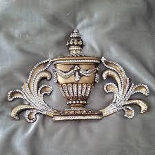 bling home decor royal vase leaf crown in antique gold with swarovski crystal