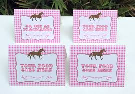 horse birthday party printable templates pony party theme