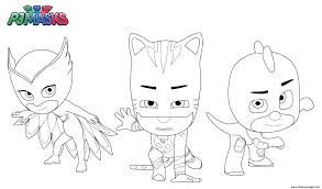 pj masks superheroes coloring pages printable