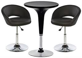 Bar Stool Table Sets Bar Lounge Chair And Table Set 2 Cushioned Stools Included