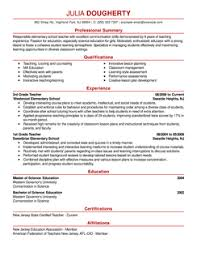 Free Teacher Resume Samples by Resume Free Resume Examples Template