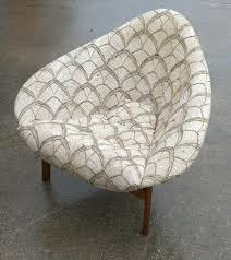 mid century three legged shell chair unknown maker collectors